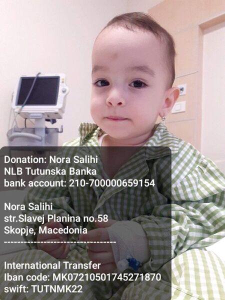 Vogëlushja Nora Salihu nga Shkupi ka nevojë për ndihmë