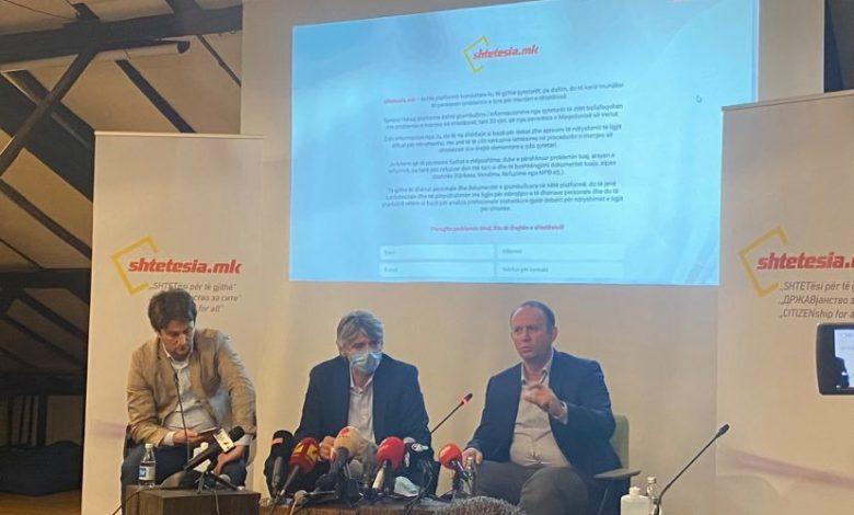 """Koalicioni ASH-AA promovoi  platformën online """"shtetësia.mk"""""""