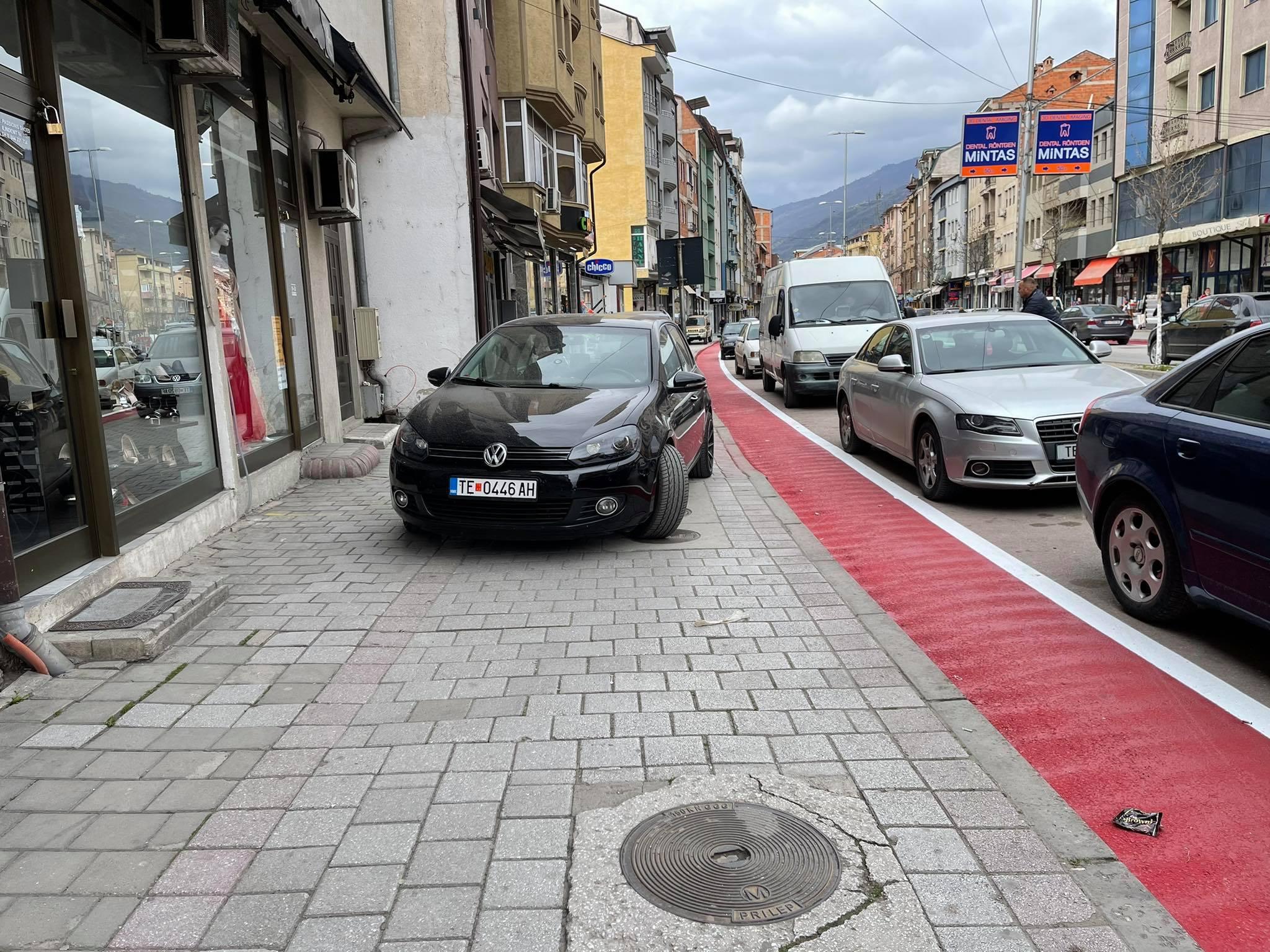 Qytetarët e Tetovës me kritika të ashpra për shënjimin e shtegut për biçikleta