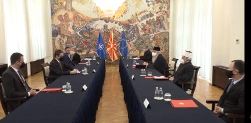 Festat në kohë pandemie: Pendarovski në takim me udhëheqësit e bashkësive fetare